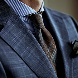 patterns-blue suit brown tie