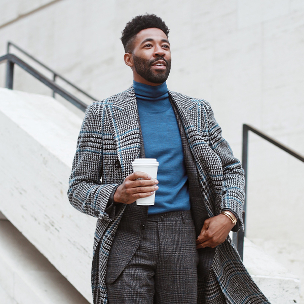 Canali Fall Winter 2019 Coat Campaign starring Ryan Clark