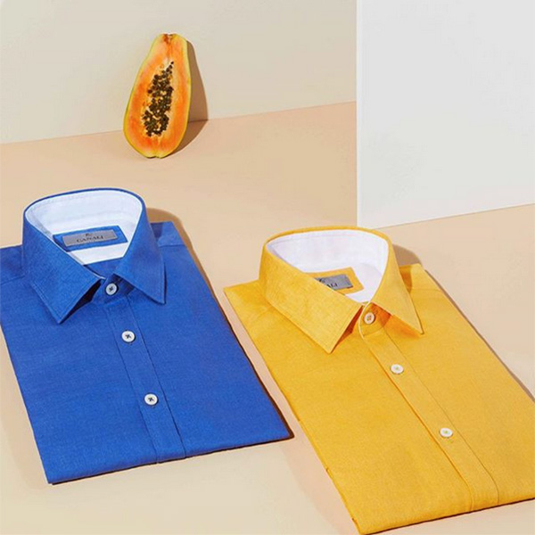 Colored linen shirts