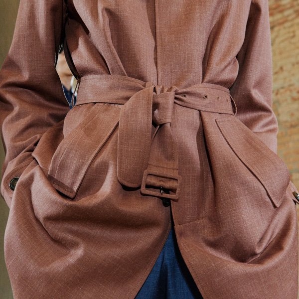 brown raincoat ss19