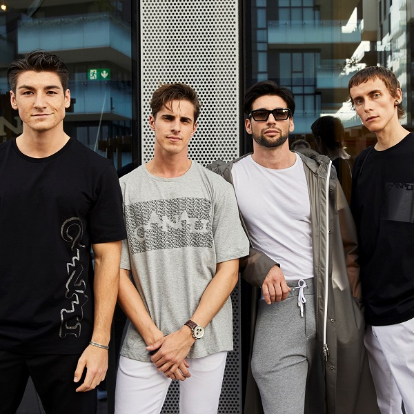 Dennis Van Peel, Matthias Geerts, Ivano Marino and Simon Nygard at the Black Edition event during MFW