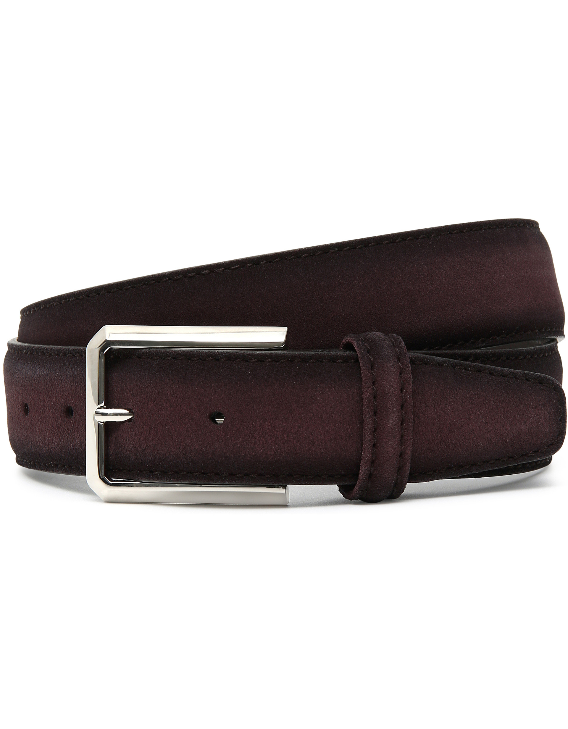 BORDEAUX SHADED SUEDE BELT WITH ARROWHEAD BUCKLE