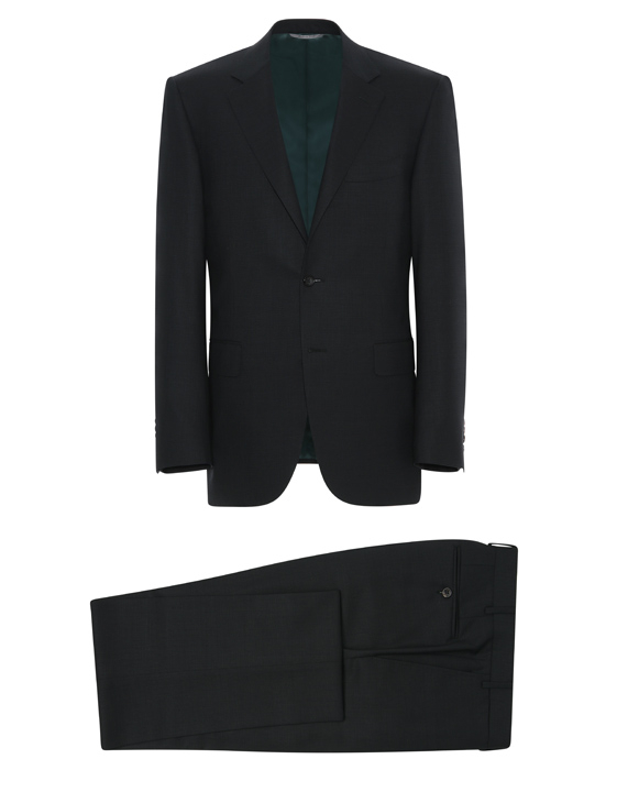 Dark green Impeccabile wool Venezia suit