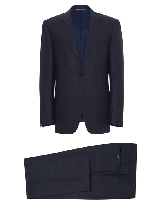Dark blue Super 140s Impeccabile wool Venezia suit
