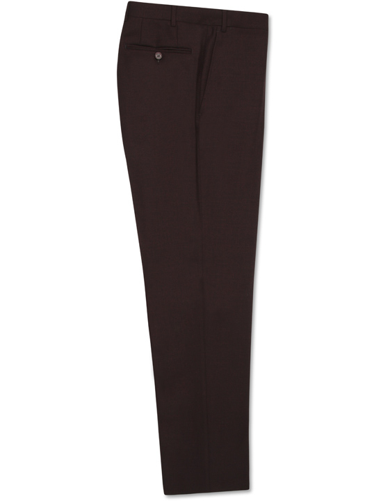 Bordeaux stretch wool dress pants