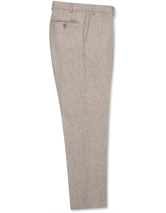 BEIGE MÉLANGE WOOL DRESS PANTS
