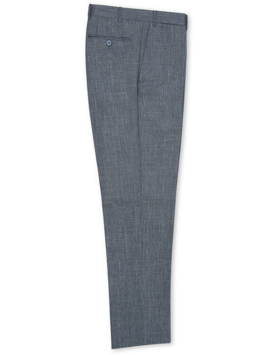 Light gray Travel wool-silk-linen dress pants