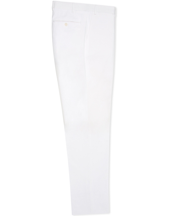 White stretch cotton dress pants