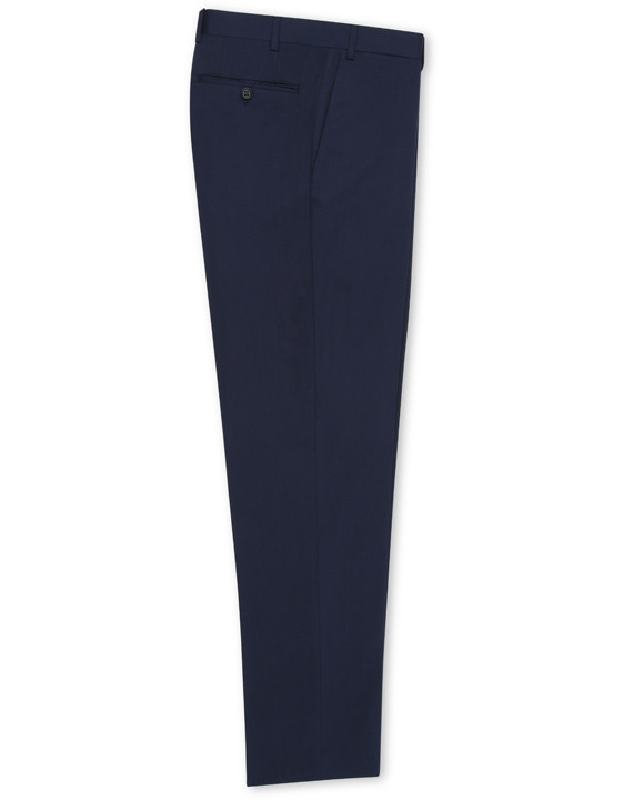 NAVY BLUE COTTON STRETCH DRESS PANTS