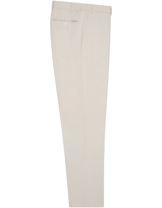 BEIGE STRETCH COTTON DRESS PANTS
