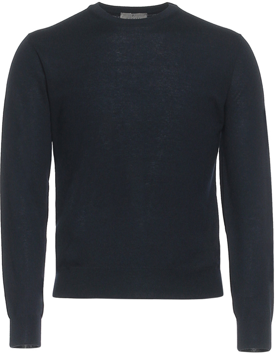 NAVY BLUE CASHMERE CREW NECK SWEATER