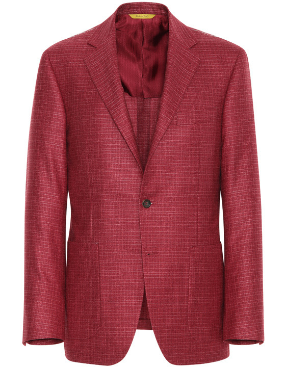 BORDEAUX SILK-CASHMERE KEI BLAZER WITH TOP CONSTRUCTION